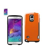 REIKO SAMSUNG GALAXY NOTE 4 CANDY SHIELD CASE WITH CARD HOLDER IN ORANGE... - $10.55