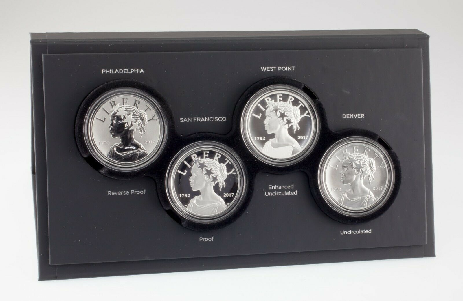 American Liberty 225th Anniversary Silver Four-Medal Set w/ Box and CoA