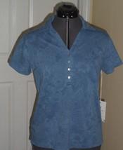 Caribb EAN Joe Knit Top Shirt Size S - Ps Blue MSRP:$34.00 Nwt - $16.98