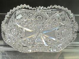 *ABP Crystal Cut Glass Oval dish - $54.82