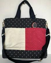 New Tommy Hilfiger Logo Jacquard Shopper Tote handbag - $75.00