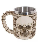 Double Wall Stainless Steel 3D Wolf Head Skulls Mug Coffee Tea Handgrip ... - ₨146.87 INR+