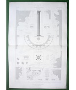 ARCHITECTURE PRINT : Pompei Corinthian Architecture House of Labyrinth - $18.90