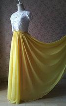 Blue Green Maxi Chiffon Skirt Silk Chiffon Maxi Skirt Wedding Chiffon Skirt image 12