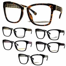 Metal Jewel Chain Arm Rectangular Plastic Frame Eye Glasses - $12.95