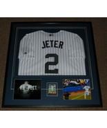 Derek Jeter Signed Framed 33x34 SR Rookie Card Jersey & Photo Display Ya... - $1,382.49