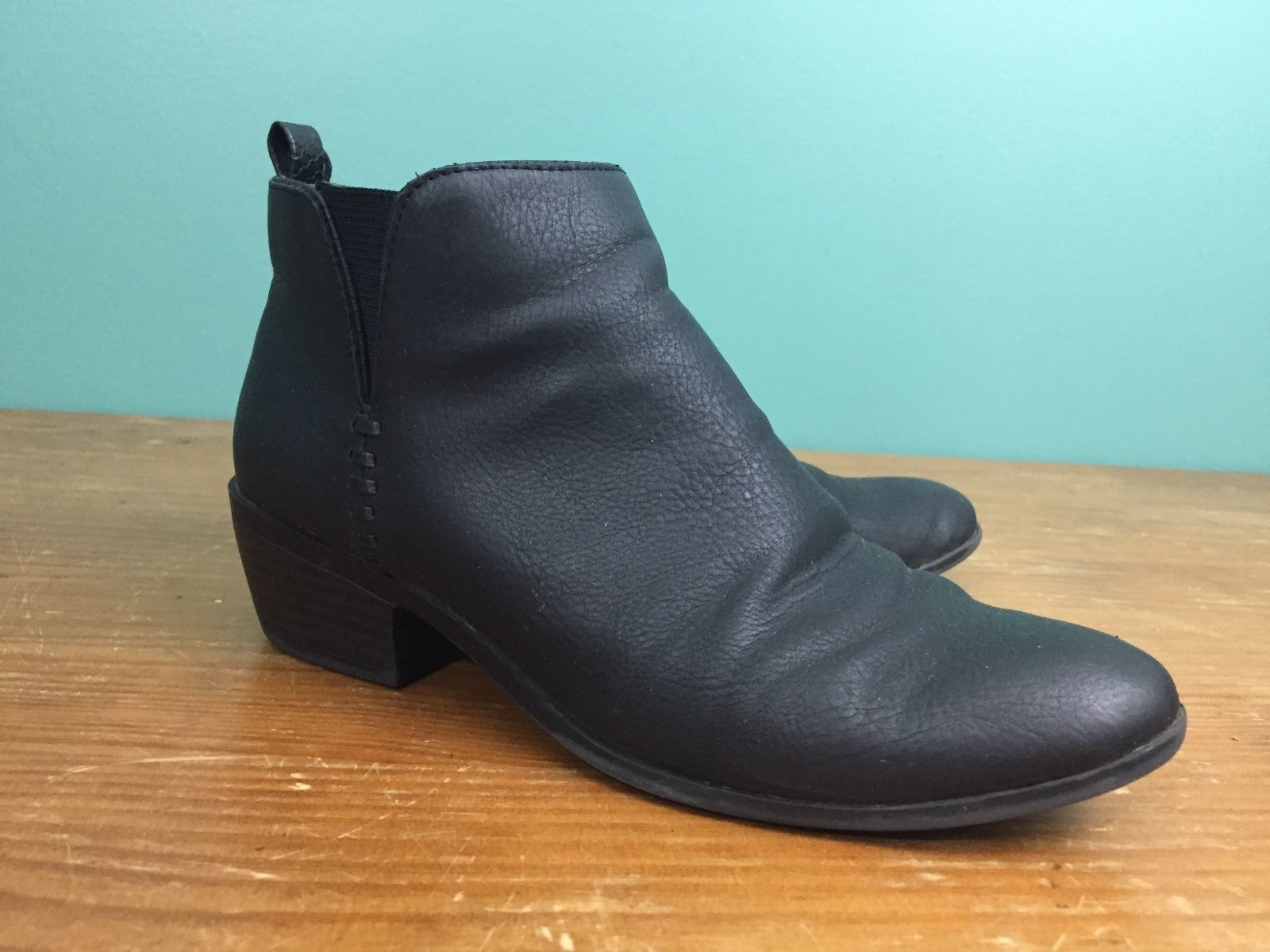 0f8adc0a8c Small & Libby Women's Side Zip Ankle Boots - Size 6 - Black Faux Leather -  $14.97