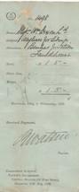 Caledonian Railway Co. Central Station Glasgow 1895 Wayfare Receipt Ref ... - $7.55