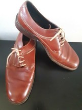 Cole Haan Country Dress Shoes Lace Up Brown Round Toe Size 11 D Made In Brazil - $39.55
