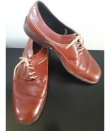 Cole Haan Country Dress Shoes Lace Up Brown Round Toe Size 11 D Made In ... - $39.55