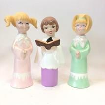 "Vintage Choir Singers 10"" Ceramic Hand Painted Figures Blond Brunette Ch... - $37.99"