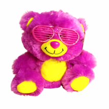 Dave & Buster's Shutter the Neon Teddy Bear Peek-A-Boo Toys Plush Sungla... - $9.85