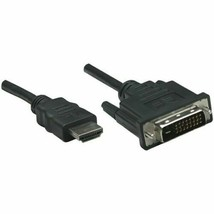 NEW Manhattan 372503 Male HDMI to Male DVI-D Cable 6ft sealed 24+1 1.8 m  - $12.74