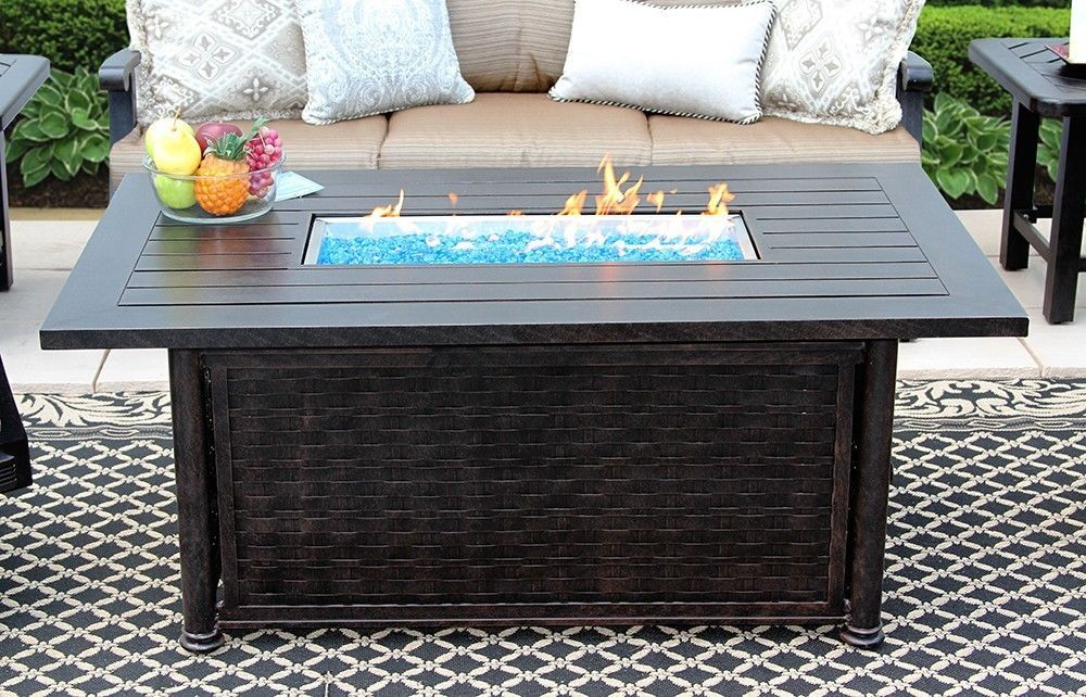 """OUTDOOR PATIO 34"""" X 58"""" RECTANGLE FIRE PIT TABLE - SERIES 4000"""