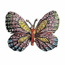 Colorful Rhinestone Women Brooch Pins Butterfly Breastpin Clothing Accessories