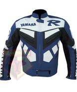 YAMAHA R BLUE MOTORCYCLE MOTORBIKE ARMOURED COWHIDE LEATHER SPORTS BIKE ... - $194.99