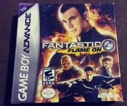Fantastic 4 FLAME ON (Game Boy Advance, 2005) GBA Rated E 10+ Chris Evan... - $22.99
