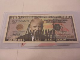 Donald Trump President POTUS Hand Signed Autograph 2016 Federal Victory ... - $59.95