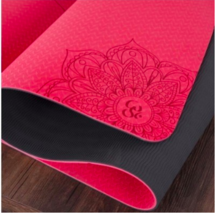 Non-slip TPE Yoga Mat 6mm Fitness Yoga Sport and Gymnastics Mat - Red Color - $58.95