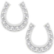 Horseshoe Stud Earrings - $29.00