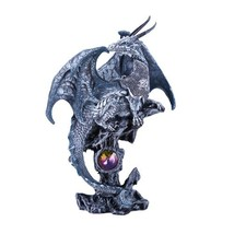 Pacific Giftware Small Winged Guardian Water Dragon Knight with Rhinestone Rock  - $12.99