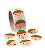 CHRISTMAS HOLIDAY SANTA'S ELF STICKERS  - $3.61