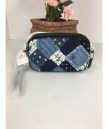 New Coach Crossbody Bag Double Zip Canyon Quilted Clutch 65723 Denim Blu... - $118.79