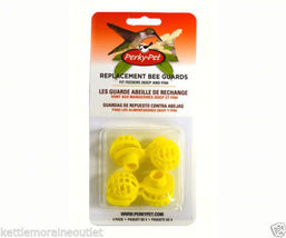 Perky Pet 4 Yellow Plastic Replacement Bee Guards for Hummingbird Feeder... - $14.00