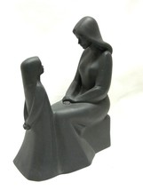 Vintage Royal Doulton Mother and Daughter Figurine in Rare Black - $60.75