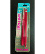 Vintage Faber Castell Uni-Ball RED Neon Lites NIP Pen & mechanical Pencil - $15.47