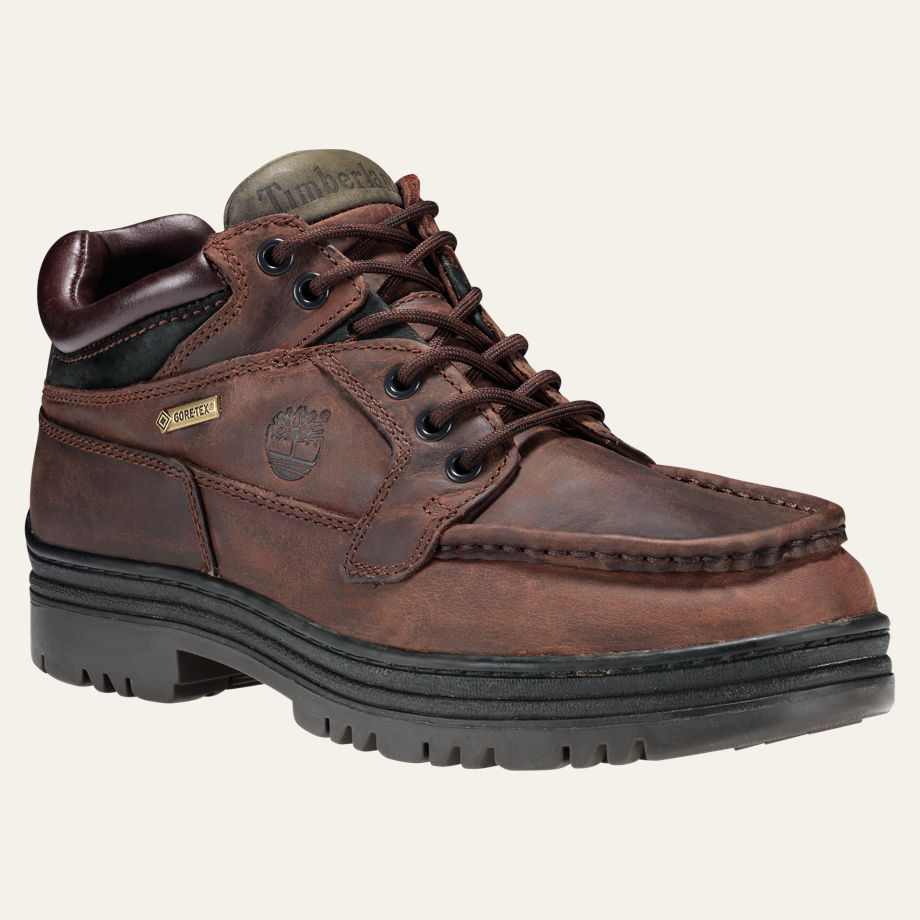 Primary image for TIMBERLAND 37042 MEN'S BROWN GORE TEX WATERPROOF CHUKKA BOOTS