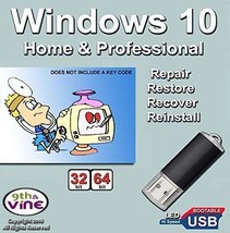 Windows 10 USB (16GB) All Versions 32bit & 64bit Installation and Recove... - $11.49