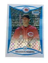 2008 Bowman Chrome Prospects X-Fractor #BCP110 Brandon Waring Cincinnati... - $3.99