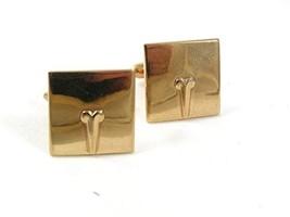 1950's - 1960's Goldtone Cufflinks By SWANK 31717 - $22.99