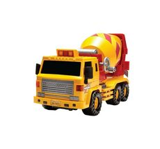 Daesung Toys Super Dump Truck and Concrete Mixer Car Vehicle Heavy Equipment Set image 4