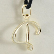 18K YELLOW GOLD PENDANT CHARM INITIAL LETTER D, MADE IN ITALY 0.9 INCHES, 22 MM image 2