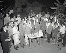 Guy Williams in Lost in Space June Lockhart & cast at party on set 16x20 Canvas - $69.99