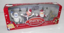 Bumble Rudolph Figurines Santa Charlie in Box Clarice Red Reindeer NIB C... - $21.77