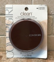 Cover Girl ~ Clean Normal Skin Pressed Face Powder 140 Natural Beige .39oz Sealed - $9.39