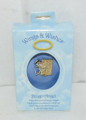 DM Productions WGWBNGO Wings Wishes Gold Colored Bingo Angel Pin