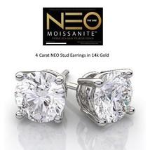 4.00 Carat NEO Moissanite Stud Earrings in 14K Gold (with NEO warranty c... - $2,100.00