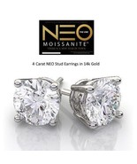 4.00 Carat NEO Moissanite Stud Earrings in 14K Gold (with NEO warranty c... - $2,100.00