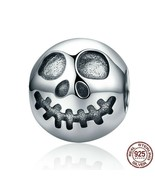 AUTHENTIC CHARM GHOST FACE BEADS 925 Silver Crystal Gifts Fits Original ... - $10.75