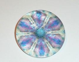"""Funky Purple Flower Mother of Pearl MOP Shank Button 1+3/8"""" Purple Flora... - $11.39"""