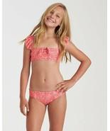 Billabong Big Girls' 2 Bella Sol Ruffle Flutter Reversible Bikini Set (S... - $45.00