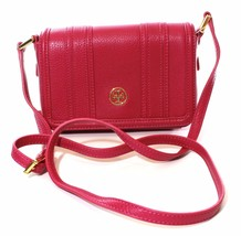 Tory Burch Landon Mini Cross Body Bag Leather Wildflower Pink Handbag - $243.77