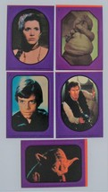 5 Return of the Jedi Stickers - Purple Border #1, #3, #9, #10, #11, - $2.96