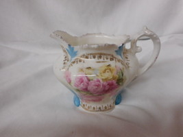 Beautiful RS Prussia Creamer, Pink Roses 1893-1900 - $38.61