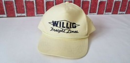 Vintage Willig Freight Lines trucker hat trucking lines Yellow snapback ... - $19.21