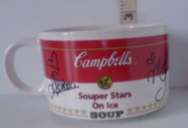 Autographed Campbell's Soup Mug Olympic Skaters Michelle Kwan & Tara Lip... - $7.06